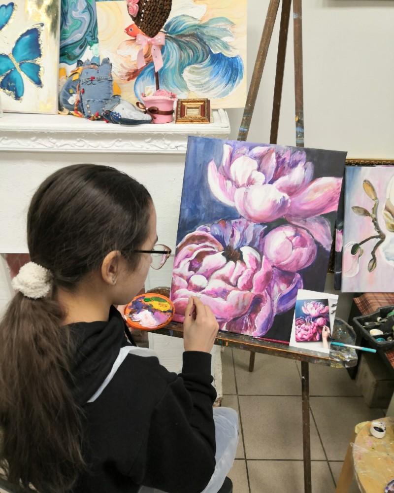 Работа студента цветы 1