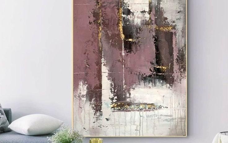 Абстрактная интерьерная картина с поталью (мастер-класс)