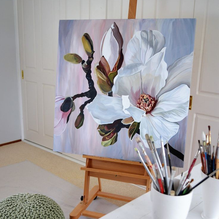 Интерьерная картина «Цветы» (мастер-класс)