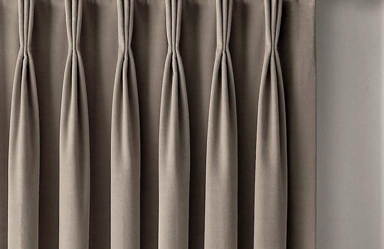 пошив штор со шторной лентой